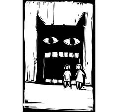 Eating Monster vector image