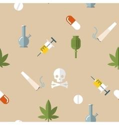 Flat drugs pattern vector