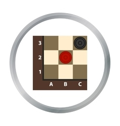 Checkers icon in pattern vector