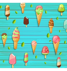 Colorful pattern made of ice cream vector image