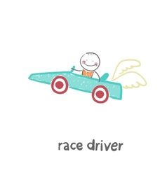 driver rides vector image