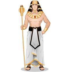 Egyptian pharaoh standing for passover vector