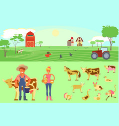 Farming infographic elements vector