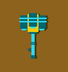 Flat icon design collection old anti tank grenade vector