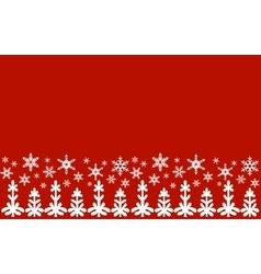 From snowflakes border vector