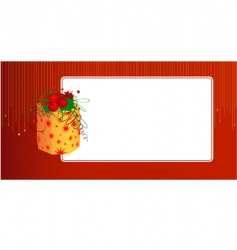 gift card template vector image vector image