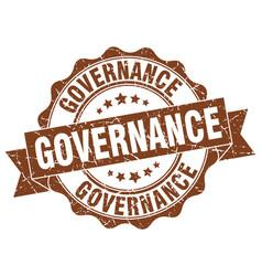 Governance stamp sign seal vector