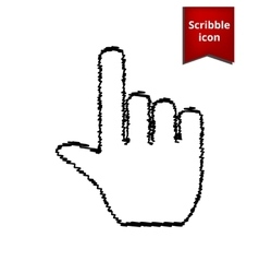 Hand icon with pen effect vector