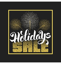 Holidays sale vector image vector image