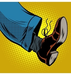 Human foot with Shoe vector image