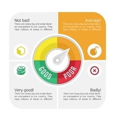 Infographics credit counter vector