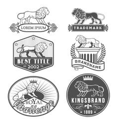Lion labels vector
