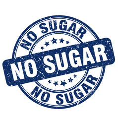 No sugar blue grunge stamp vector