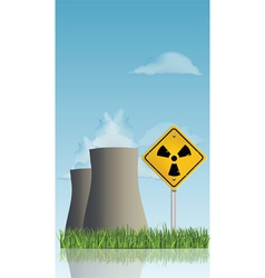 nuclear power plant vector image