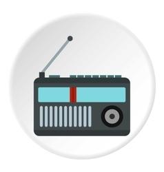 Retro radio icon flat style vector