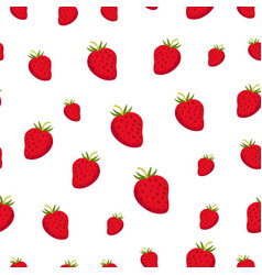 seamless pattern with strawberry juicy healthy vector image