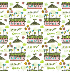 Seed pattern agriculture background seamless vector