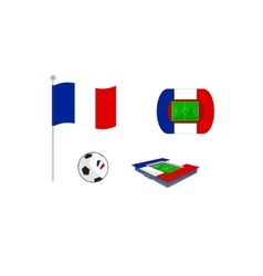 set of icon for europe football vector image