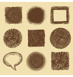 set with doodle backgrounds and frames vector image
