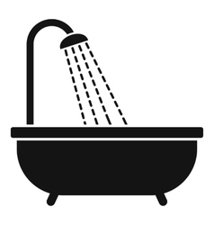 Shower icon simple style vector