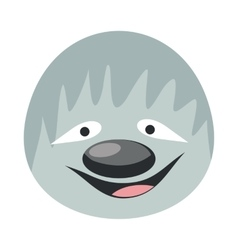 Sloth face in flat design vector
