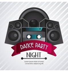 Speaker and cassette icon dance and music design vector