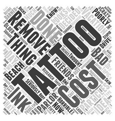 tattoo removal Word Cloud Concept vector image vector image