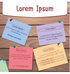 template board with stickers for your design vector image