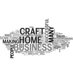 Work at home craft business text word cloud vector
