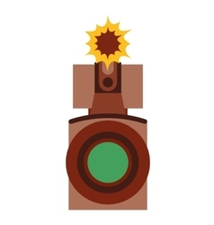Film movie camera icon vector