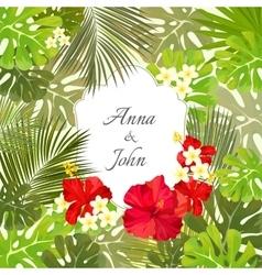 Beautiful wedding invitation save the date vector image