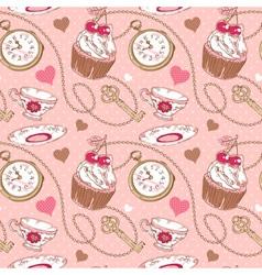 Romantic love vintage pattern vector image