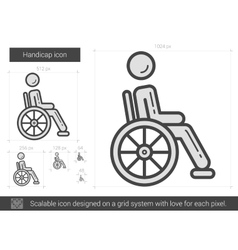Handicap line icon vector