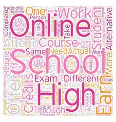 Online high school how does it work text vector