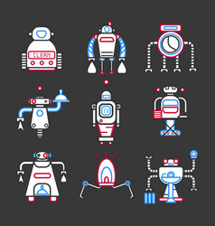 Futuristic automatic helpers vector