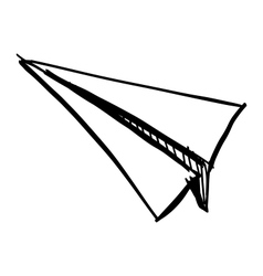 Paper plane icon isolated on white vector