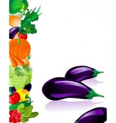 vegetables eggplant vector image