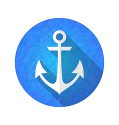 Blue anchor icon over blue vector