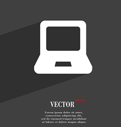 Laptop icon symbol flat modern web design with vector