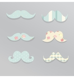 Cute mustaches vector