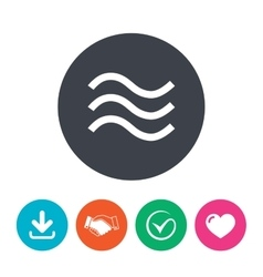 Water waves sign icon flood symbol vector