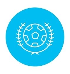 Soccer badge line icon vector