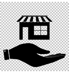 Store sign flat style icon vector