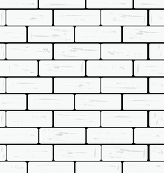 Brick wall white vector