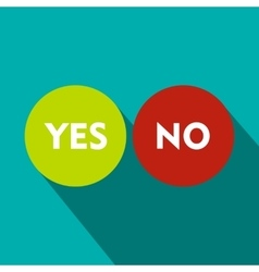 Yes and no icon flat style vector