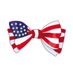 Bow with USA flag vector image