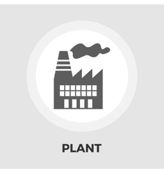 Factory icon flat vector