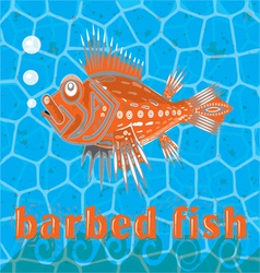 Barbed fish vector