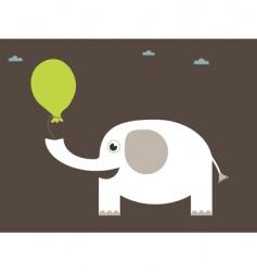white elephant vector image