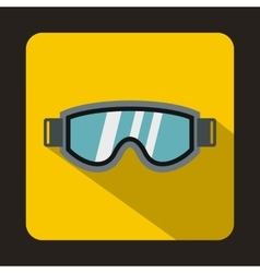 Skiing mask icon in flat style vector